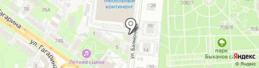Красивая плитка на карте Липецка