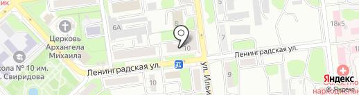 Ареал-Л на карте Липецка