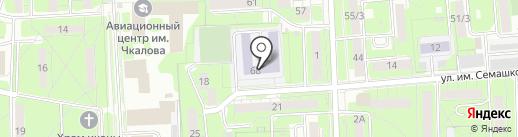 Гимназия №19 им. Н.З. Поповичевой на карте Липецка