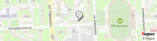 Звездный путь-авто на карте Липецка