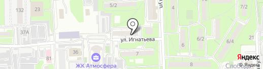 Грифон на карте Липецка