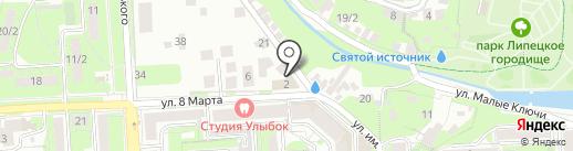 8 марта на карте Липецка