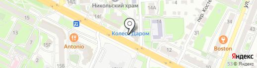 Гелик на карте Липецка