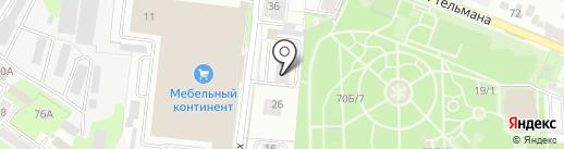 Веста на карте Липецка