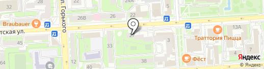 Промоутер на карте Липецка