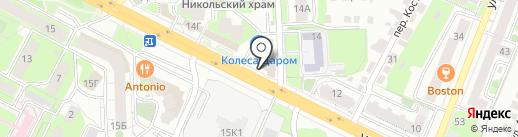 Интегра на карте Липецка