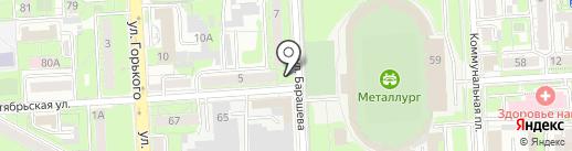Магазин молочных продуктов на карте Липецка