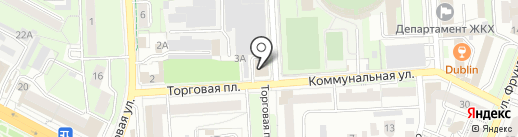 Апрайс на карте Липецка