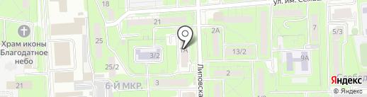 Окулюс на карте Липецка