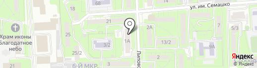 Каравай на карте Липецка