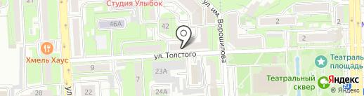 Липецкая областная детская библиотека на карте Липецка