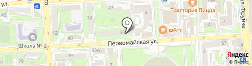 Дольче на карте Липецка