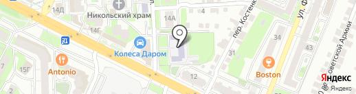 Средняя школа №15 на карте Липецка