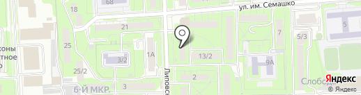 Социальный на карте Липецка