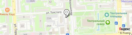 Звездный путь на карте Липецка