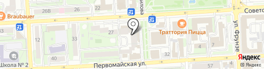 Лайф на карте Липецка