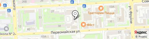 Мультистория на карте Липецка