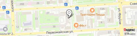 Чёрный Kvadrat на карте Липецка