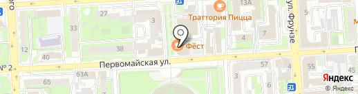 Плаза на карте Липецка