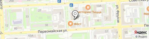 Мята на карте Липецка