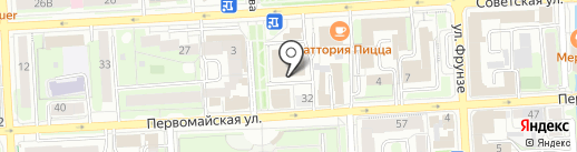 Ленинград на карте Липецка