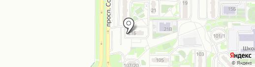 Арт гнездо на карте Ростова-на-Дону