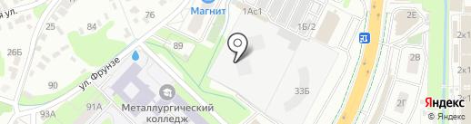 Управление благоустройства г. Липецка, МБУ на карте Липецка