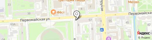 Путевка в жизнь на карте Липецка
