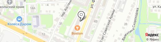 Болконский на карте Липецка
