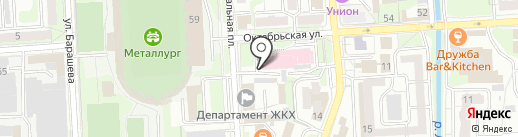 Карта успеха на карте Липецка
