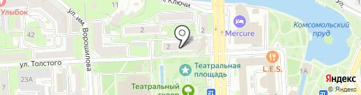 Толстого, 2, ТСЖ на карте Липецка