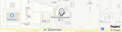 Регистрационно-экзаменационный отдел ГИБДД на карте Ростова-на-Дону