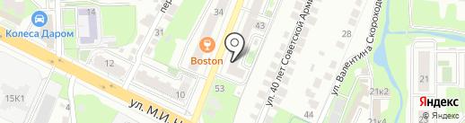 Технический центр на карте Липецка