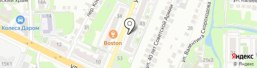 ЛЭКСО-ТПП на карте Липецка