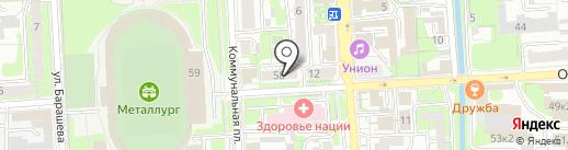 Соседи на карте Липецка