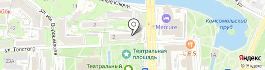Толстого, 2 на карте Липецка
