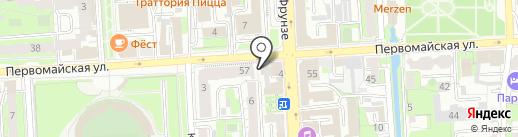Спутник стиль на карте Липецка