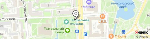 Магазин разливных напитков на карте Липецка