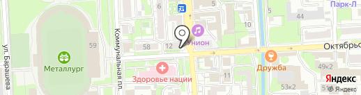 Российское авторское общество на карте Липецка