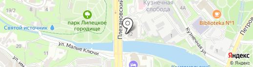 Взгляд на карте Липецка