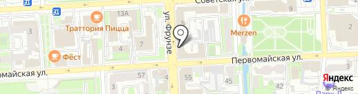 Колокол на карте Липецка