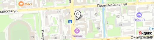 Юлия на карте Липецка
