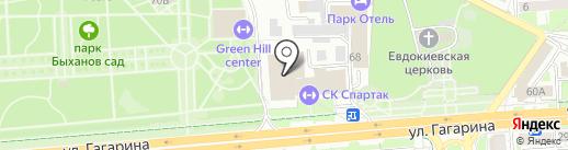 Спартак на карте Липецка