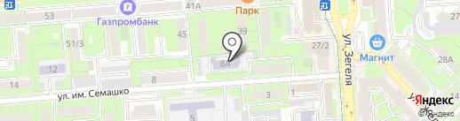 Областной врачебно-физкультурный диспансер на карте Липецка