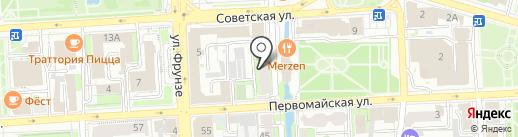 Управление ресурсного обеспечения на карте Липецка