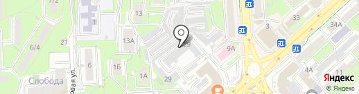 Автотранспортное учреждение на карте Липецка