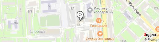 Пожарная часть №7 на карте Липецка