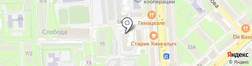 Родной край на карте Липецка