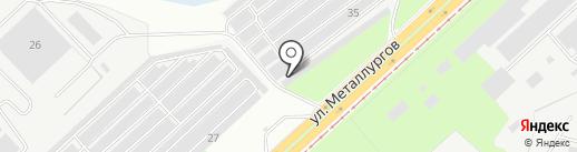 Автолюбитель-6 на карте Липецка