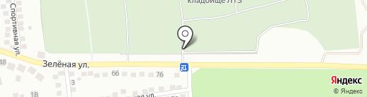 Кладбище поселка ЛТЗ на карте Липецка